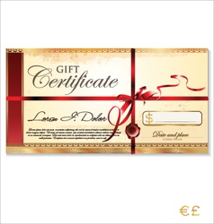 Gift certificate template vector