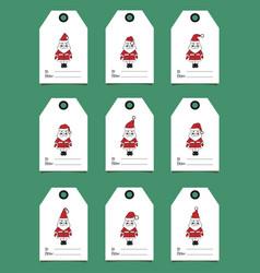 gift tags with santa vector image