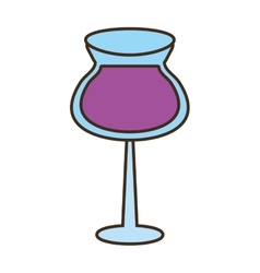 Glass cup cocktail drink vector