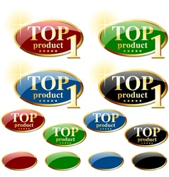 Glossy Label TOP product vector image