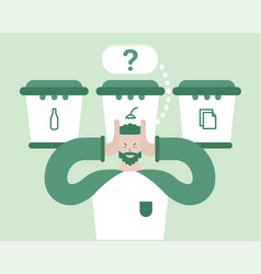 go green global mind recycling zero waste vector image
