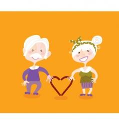 grandparents in love vector image
