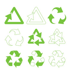 green triangular recycle vector image