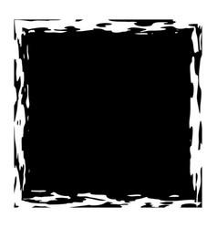 grunge square banner vector image
