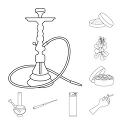Health and nicotine symbol vector
