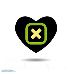 heart icon a symbol of love valentine day with vector image