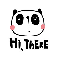 Hi there panda vector