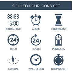 hour icons vector image