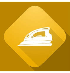 icon of Flatiron with a long shadow vector image