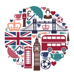 Icons on a theme of england vector