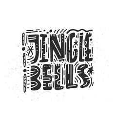 Jingle bells greeting card design vector