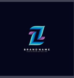 Letter z colorful logo design vector