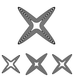 Line cross logo design set vector