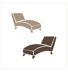 Lounge chair brown recliner chair isolated on vector