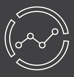 market analysis line icon business and diagram vector image