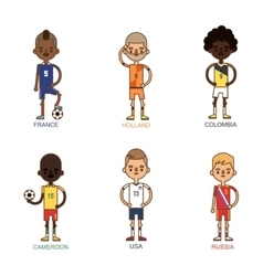 National Euro Cup soccer football teams vector image