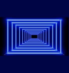 neon blue frames vector image