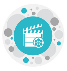 of filming symbol on clapper vector image