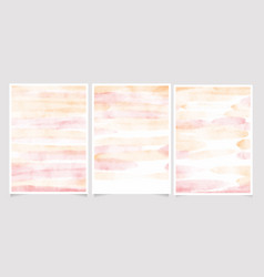 pink and gold watercolor wash splash 5x7 vector image