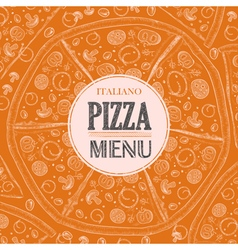Pizza sketch background vector image