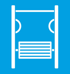 Playground simulator icon white vector