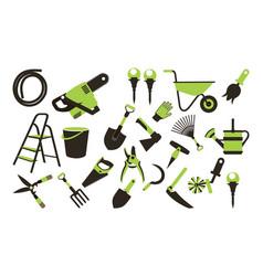 Set garden tools vector