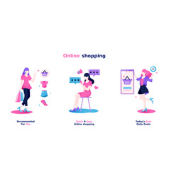 Sheconomy online shopping vector