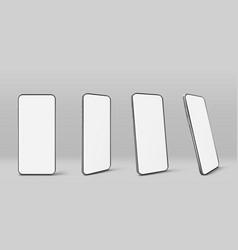smartphone with blank white screen vector image