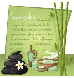 Spa salon background vector image