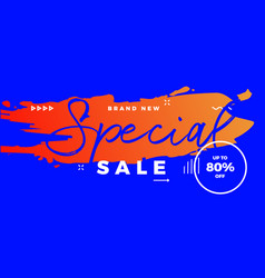 Special sale offer banner brush vector