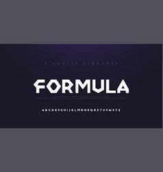 sport modern alphabet font typography diamond vector image