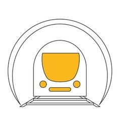 Subway train icon vector