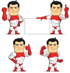 Superhero Customizable Mascot 2 vector