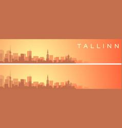 Tallinn beautiful skyline scenery banner vector
