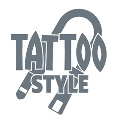 tattoo style logo simple gray style vector image
