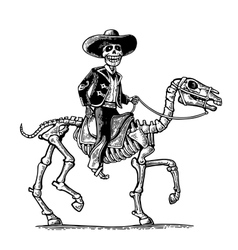 The rider in mexican man national costumes vector