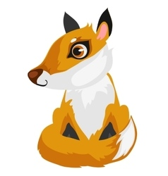 Toy cartoon fox isolated animal vector image