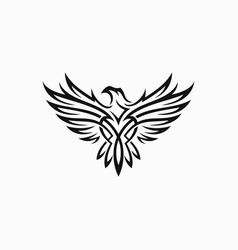 tribal eagle tattoo vector image