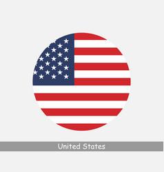 Usa round circle flag vector