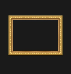 Vintage picture frame isolated on black background vector