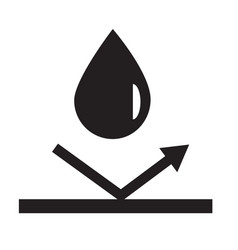 Waterproicon on white background flat style vector
