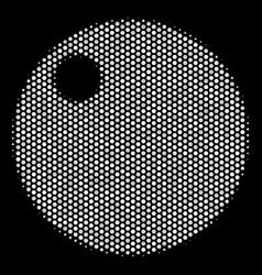 White pixel sphere icon vector