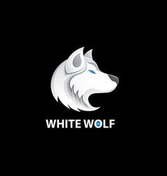 white wolf logo vector image