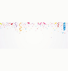 colorful confetti banner vector image vector image