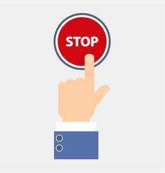 hand push stop vector image
