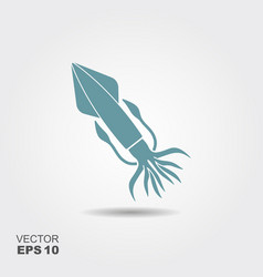 squid flat icon vector image vector image