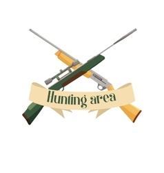 Hunting area design emblem vector image vector image