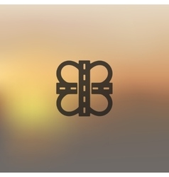 road icon on blurred background vector image