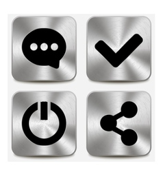 Web icons on metallic buttons set vol 6 vector image vector image