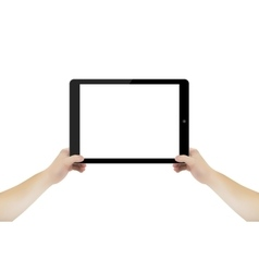 Abstract concept image of hand with tablet vector image